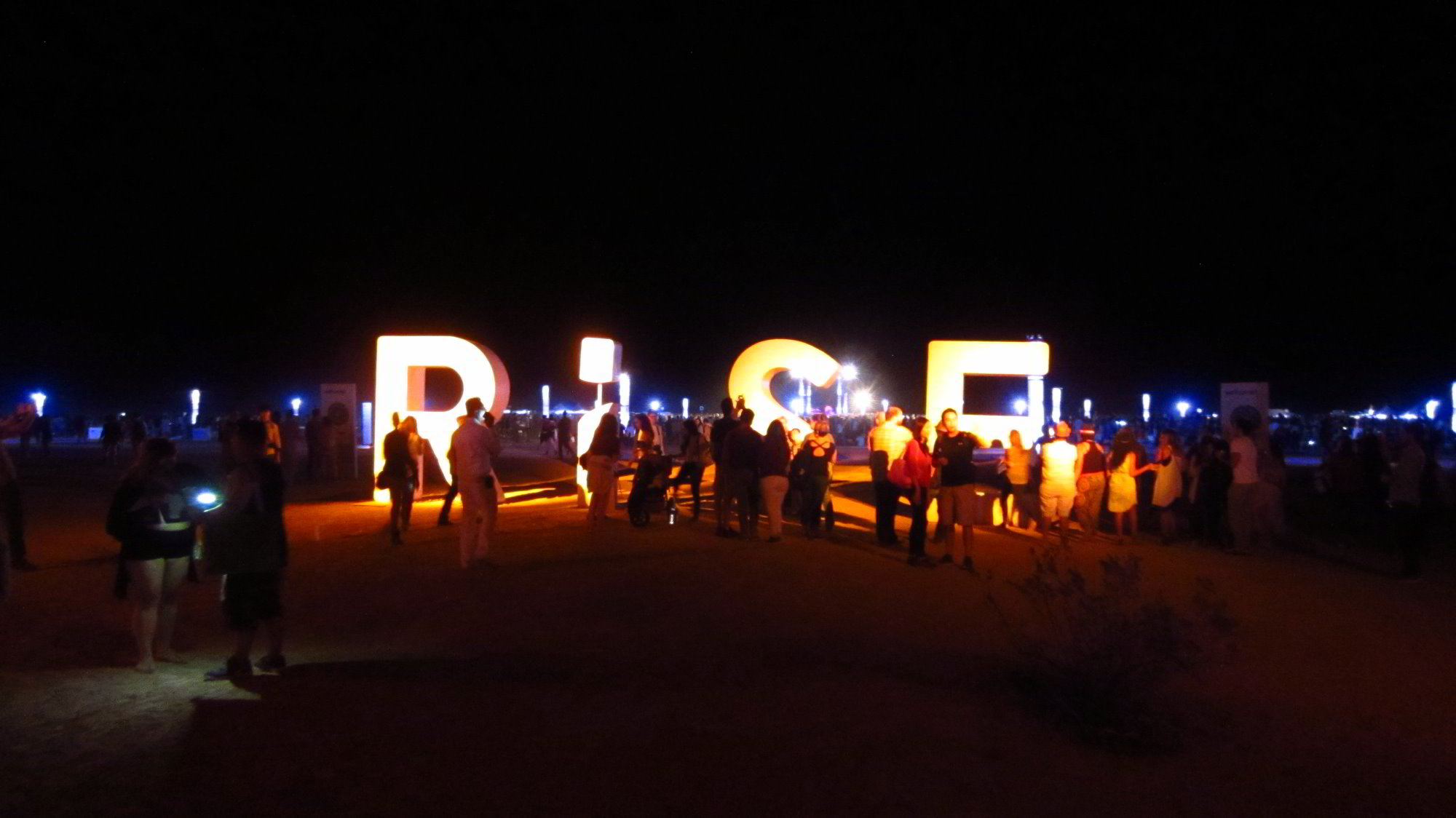 RiSE sign at entrance of 2015 Rise Festival at the Moapa River Reservation near Las Vegas