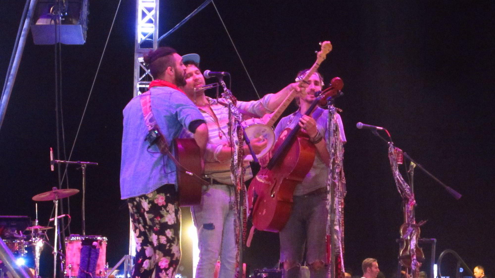 Magic Giant playing at the Rise Lantern Festival